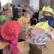 Max & Ellie hats for mothers of the bride and groom and ladies day at Limelight occasions near leeds huddersfield and wakefield