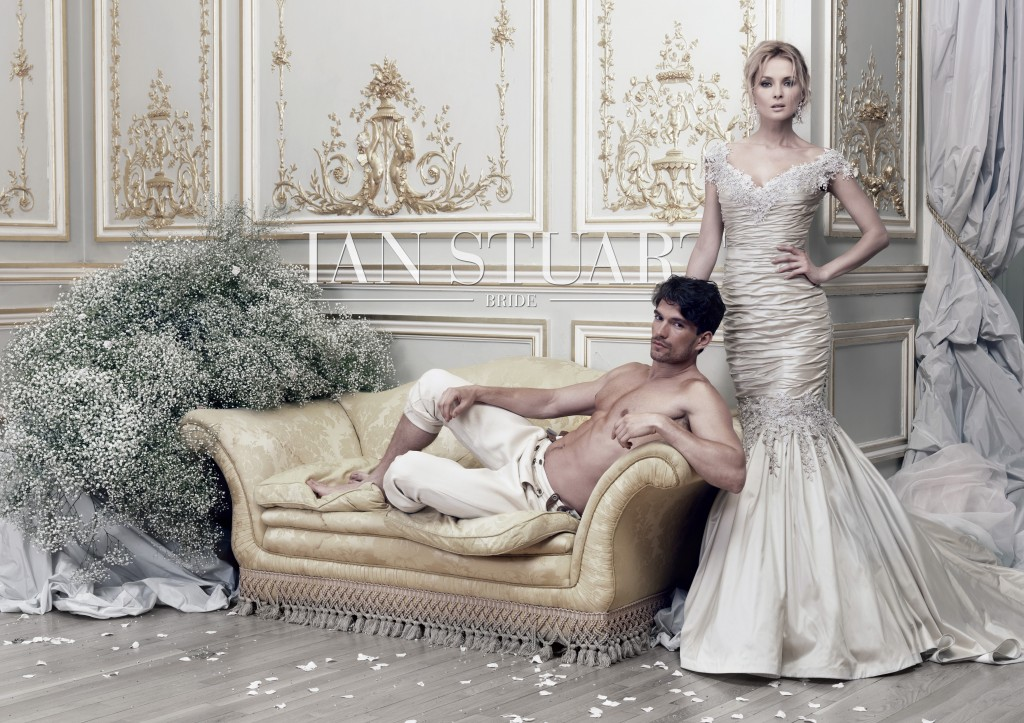 Brunei, off the shoulder silk mermaid wedding dress with lace detail by Ian Stuart at limelight occasions, ian stuart designer day limelight occasions near leeds 20th september 2014