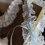 Lace bridal garters by Lindsey Jay at Limelight Occasions, Huddersfield near Leeds, west Yorkshire