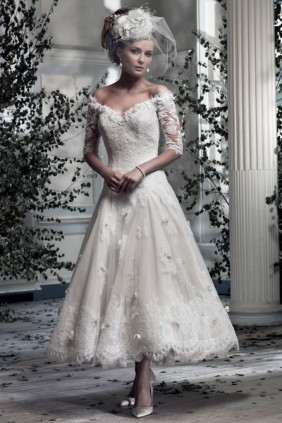 Ian Stuart Sophia Tea length wedding dress Frill me collection available at Limelight Occasions huddersfield wakefield leeds West Yorkshire