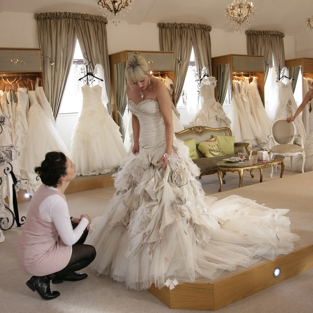 Linda, expert bridal stylist for Limelight occasions advises brides on wedding dress styling and fitting