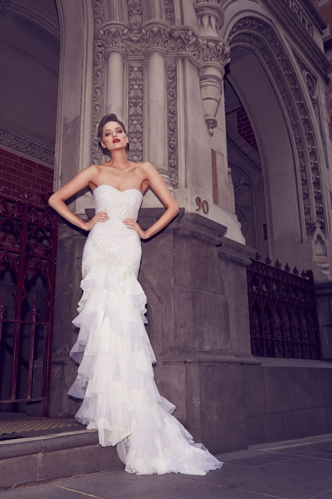 Karen Willis Holmes beaded wedding dresses at Limelight Occasions, Flagship store in New York and Sydney, KWH designer wedding dresses, KWH, designer bridal gowns at Limelight Occasions