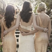 sequinned vintage style bridesmaids dresses by Sorella Vita at Limelight Occasions, glamorous forties style bidesmaids dresses at Limelight Occasions near Huddersfield , Leeds and Wakefield in West Yorkshire, bridesmaids dresses with V neck backs at Limelight Occasions, figure flattering bridesmaids dresses at Limelight Occasions in West Yorkshire, bridesmaids dresses with straps at Limelight Occasions
