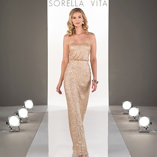 sequinned bridesmaids dress by sorella vita at limelight occasions