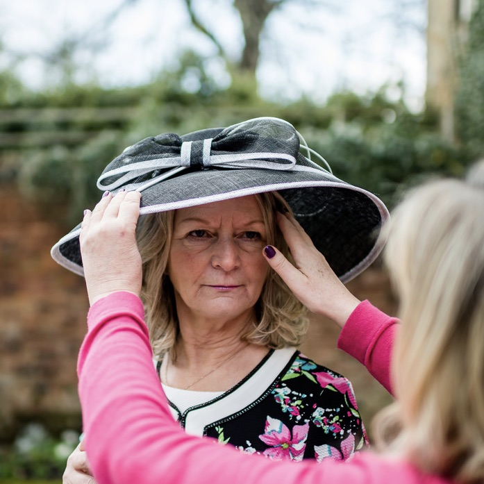 Mother of the Bride and groom hats by Max and Ellie at Limelight occasions near leeds huddersfield Wakefield and the Holme valley, hats for the races at Limelight occasions near York Harrogate and Leeds
