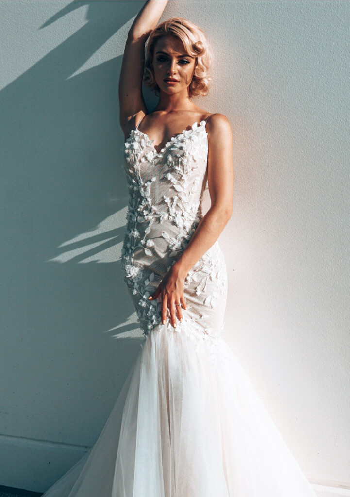 Tink mermaid wedding dress by Rachel Rose at Limelight Occasions