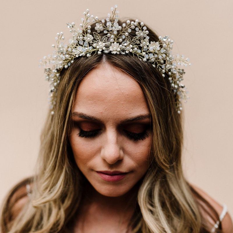 Style your dress with the Larkspur tiara AR 601 by the Arianna Tiaras wedding hair accessories at Limelight occasions near Huddersfield Wakefield and Leeds