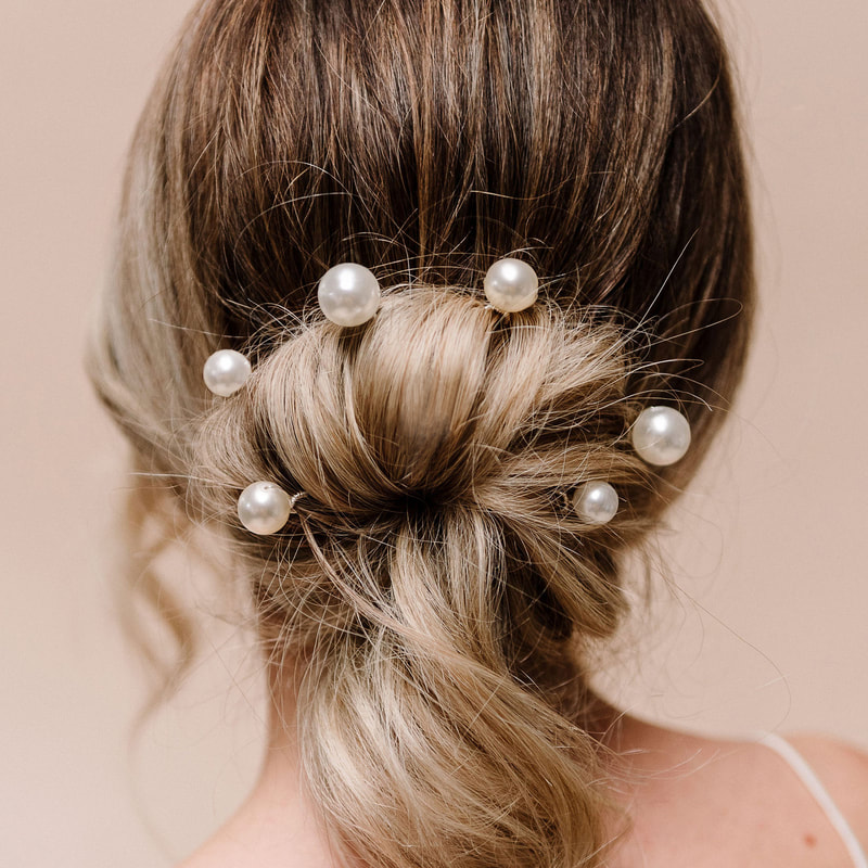 Style your dress with Purity pearl hairpins ARP617 by the Arianna Tiaras wedding hair accessories at Limelight occasions near Huddersfield Wakefield and Leeds